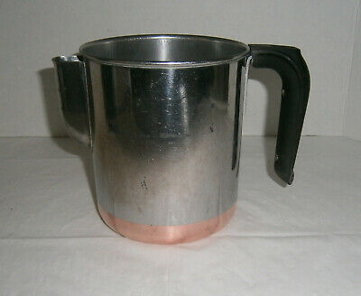 Vintage Revere Ware Copper Clad Stainless Steel 4 Cup Percolator Coffee Pot ONLY