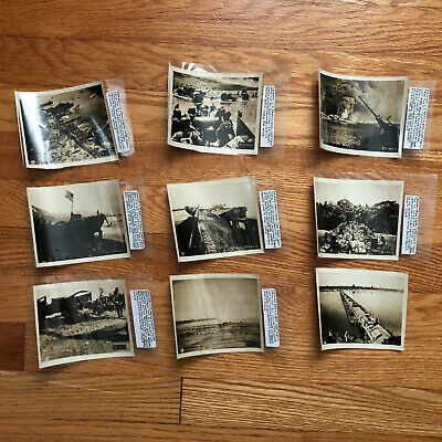 Vintage Original Photos WW2 Normandy & Pacific - WWII US Army Lot 9