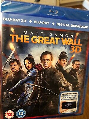 The Great Wall 3D + 2D Blu-ray - BRAND NEW - Ships Fast! Trusted US seller