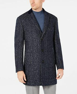 $850 Tallia Men's Blue Wool Slim Fit Big & Tall Warm Sport Coat Jacket Size XLT