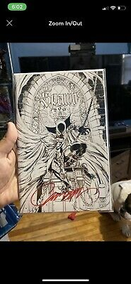 Spawn #300 Sketch Variant SIGNED by J. Scott Campbell (With COA) B&W