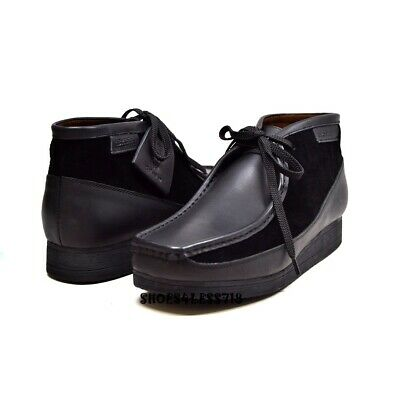 New Mens British Walkers Original Exclusive Two Tone Black Leather Wallabees