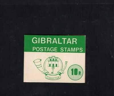 Gibraltar 1977 10p Green Nature definitives Sachet Booklet
