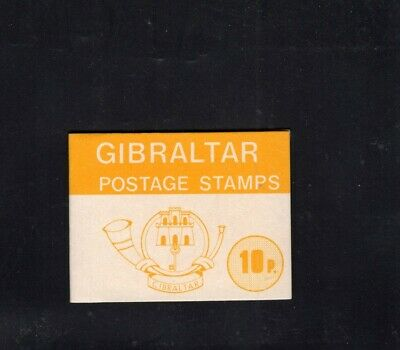 Gibraltar 1977 10p Yellow  Nature definitives Sachet Booklet