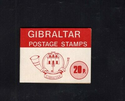 Gibraltar 1977 20p Red  Nature definitives Sachet Booklet