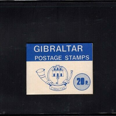Gibraltar 1977 20p Blue  Nature definitives Sachet Booklet