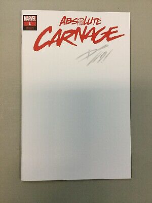 Absolute Carnage Blank Variant 1 Signed By Donny Cates Marvel Comics 2019
