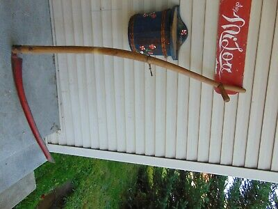 vintage/antique  mowing scythe    nice #  7868