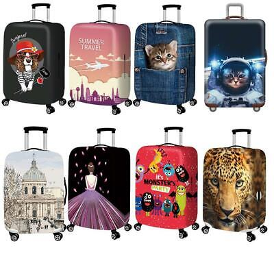 Printed Travel Suitcase Protective Cover Luggage Protector Dust proof Elast Q8J7