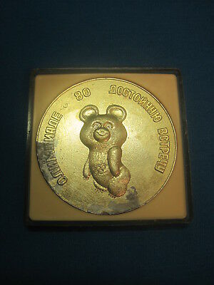Olympic Games. Moscow - 80. Olympic bear. Table Medal. Russia.