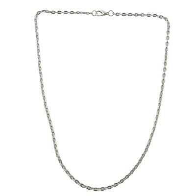 Jewelry Men's Ladies necklace, stainless steel necklace, silver - width 3mm L2Y7