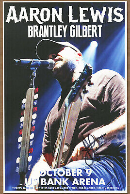 Aaron Lewis autographed gig poster Staind