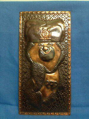 Plaque. Bear Olympic. Moscow - 80. USSR