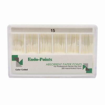 200pcs Dental 02 Taper Absorbent Paper Points Dentist Product hot #15-40 Z2W2