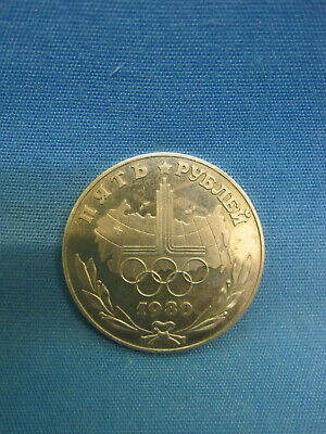 Olympic Medal. Coin. Olympic Symbol. Moscow 80.