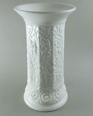 "Fenton Milady Vase 10.5"" Milk Glass Floral White #1110 Flared Rim Antique 1930s"