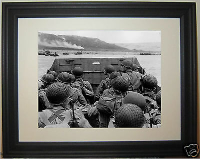 D-Day Dday World War 2 WWII Normandy Beach France Allied Invasion Framed Photo