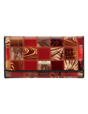 Leather Wallet, Patch Patent Leather, Red, Serenade Wallet