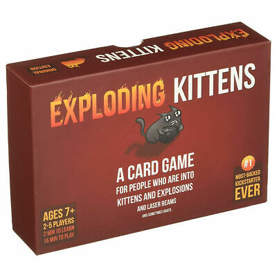 Exploding Kittens Card Game ORIGINAL (RED) Kitten Party Board Game