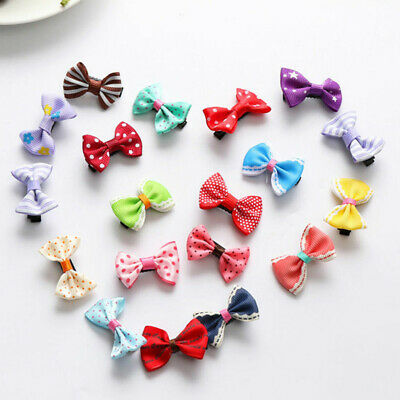 10X Baby Girls Bow Small Barrettes Newborn Cute Hairpin Headwear Kids Hair Clips