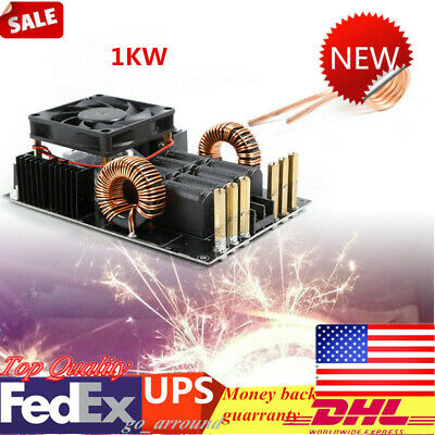 1KW High Frequency Low Voltage ZVS Induction Heater High Voltage Generator+ Coil