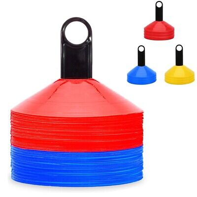 Set of 20 Space Markers Cones Football Hockey Rugby Training Aid Coaching