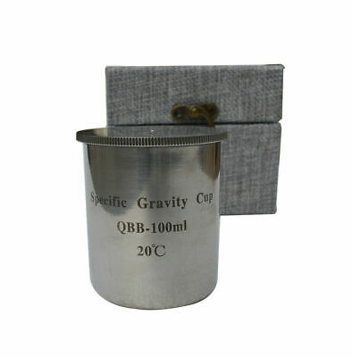 QBB-100ml Stainless Steel Paint Density Cups Specific Gravity Cups