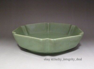 Old Chinese Porcelain Song Ru Ware Pink Green Six parties Brush Washer.Plate