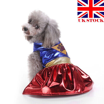 Halloween Pet Cat Dog Superhero Cosplay Clothes Puppy Fancy Dress Jacket Coat UK