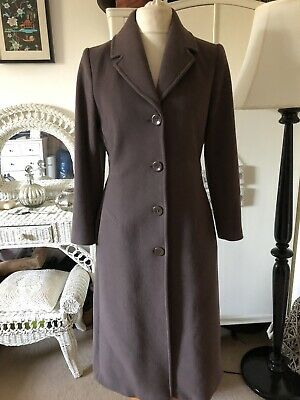 Lovely Wool 1940s Vintage Style Full Length Coat Size 10