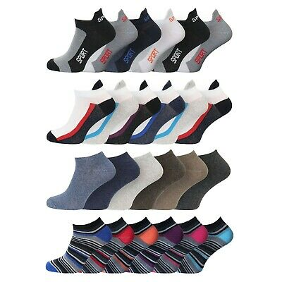 Men's Performax Soft Cotton Rich Trainer Liner Sport Holiday Socks 6-11 Uk