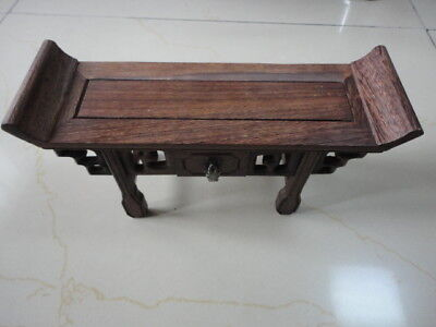 CHINESE BLACK HARDWOOD NICE CARVED Desk Style BONSAI POT/VASE STAND 235mm S Au