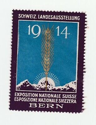 Swiss- 1914 Exposition Nationale Swisse Bern- poster stamp clean no gum