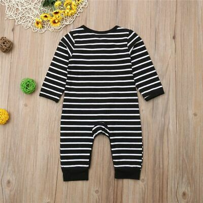 Newest Infant Baby Boy Girl Cotton Long Sleeve Striped Rompers Jumpsuit Kids Out