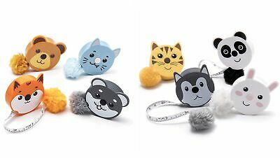 Fluffy Animal Retractable Tape Measures with Pom Pom Tails - 150cm Gift Stocking