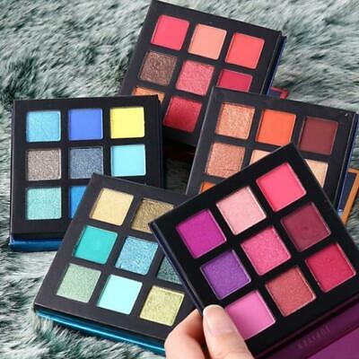 Beauty Glazed 9 Colors Eye Shadow Palette Shimmer Matte Eyeshadow Powder V8M1