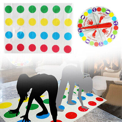 Funny Twister The Classic Game Body Game W/ 2 More Moves Family Party Games SALE