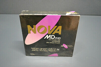 """10 PACK Vintage New In Package 3M floppy Diskettes 5.25/"""" DS HD 96TPI"""