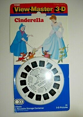 Cinderella 1991 Tyco Viewmaster Reels Set 3009 Rare Excellent Condition  F391