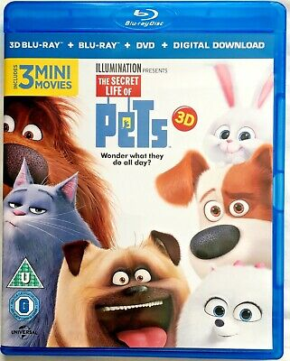 The Secret Life of Pets - 3-disc set (3D + Blu-ray-+ DVD)