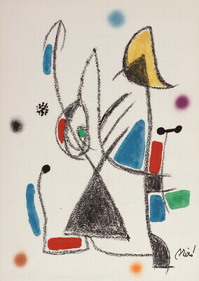 Joan Miro Maravillas con variaciones acrosticas Giclee Canvas Print Paintings