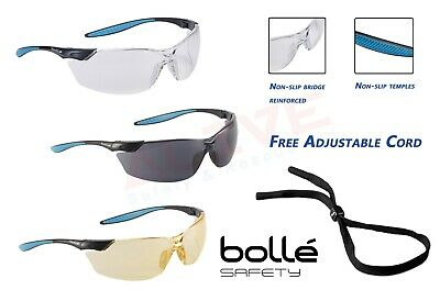 Bolle Safety Glasses MAMBA Spectacles Cycling Sports with FREE Adjustable Cord