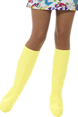 Womens Fancy Halloween Dress Party GoGo Boot Covers Yellow Pack Of 3