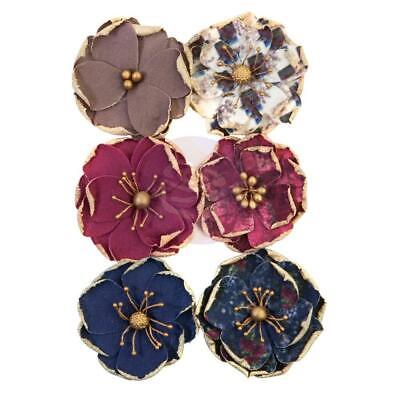 NEW Prima Marketing - Mulberry Paper Flowers - Worn Elements/Darcelle