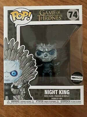 Funko Pop! Game of Thrones Metallic Night King on Throne #74 HBO Exclusive