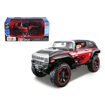 New 2008 Hummer HX Concept Black/Red All Stars 1/24 Diecast Model Car by Maisto
