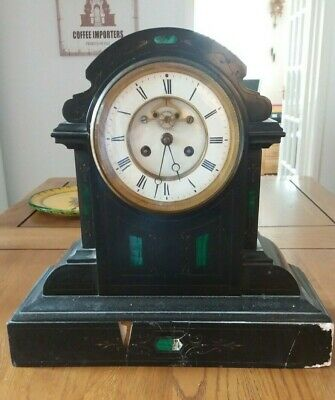 Antique French Marble Mantle Clock for restoration.