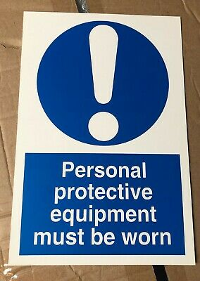 Mandatory Safety Sign - Personal protective equipment must be worn - 300x200mm