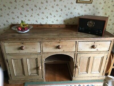 Antique Pine 1800s Country Farmhouse Sideboard Cupboard dresser