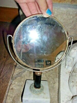 vintage table mirror boudoir bedroom marble make up old decor antique accent